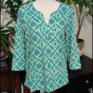 Like New Land's End 3/4 Sleeve Blouse